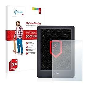 3x Vikuiti MySafeDisplay Displayschutzfolie DQCT130 von 3M passend für Kobo Glo