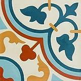 Zement Bodenfliesen glasiert, matt, Vintage/Retrooptik 20x20x1,5cm, 1 Krt=0,52qm, Dekor 12, MOES2119