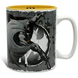 Batman DC Comics Tasse mit Logo grau gelb Keramik 460ml