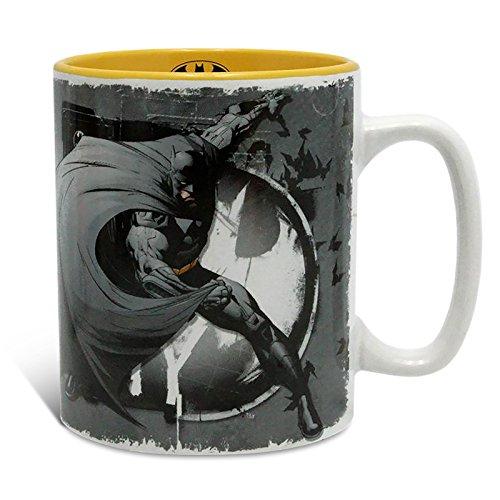 Elbenwald Batman DC Comics Tasse mit Logo Grau Gelb Keramik ()