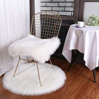 NO BRAND KDYSMWD Living Room with Pure White Round/Square Carpet Soft Square Chair Cover Cushion Bedroom