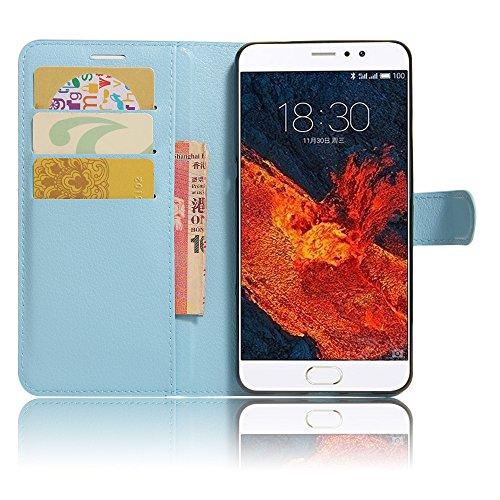 GARITANE Meizu Pro 6 Plus Hülle Case Brieftasche mit Kartenfächer Handyhülle Schutzhülle Lederhülle Standerfunktion Magnet für Meizu Pro 6 Plus (Blau)