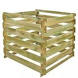mewmewcat Bac de Composteur en Bois pour Jardin Imputrescible 0,54 m³