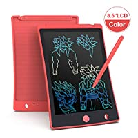 Arolun LCD Writing Tablet, 8.5 Inch Colorful Screen Digital eWriter Electronic Graphics Tablet Portable Writing Board Handwriting Doodle Drawing Pad for Kids Adult Home School Office (Red)