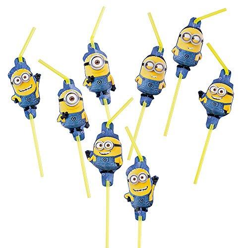 Ich Einfach Unverbesserlich 2 - Minions Party Trinkhalme Strohhalme 8 (Minion Party Dekorationen)