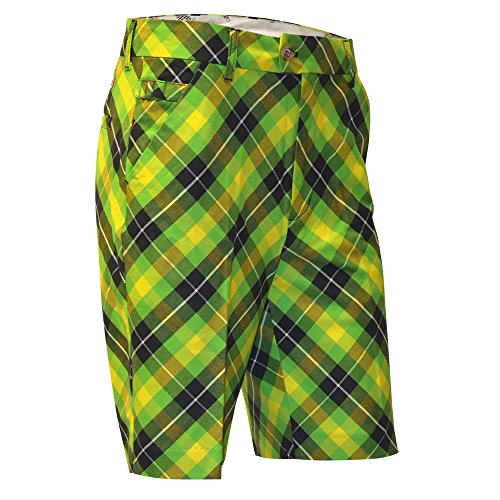 SHORTS DE GOLF HOMMES ROYAL & AWESOME - Plaid Electric