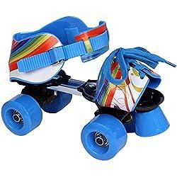 L.A. Sports Patins à roulettes réglables pour enfant bleu/rouge, Taille28-37-