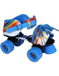 L.A. Sports Patins à roulettes réglables pour enfant Bleu/Rouge Taille 28–37