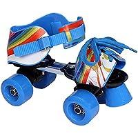 L.A. Sports Patins à roulettes réglables pour enfant bleu/rouge, Taille28–37-