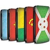 Stuff4 Coque/Etui/Housse Cuir PU Case/Cover pour Samsung Galaxy J3 / Pack 21pcs Design / Drapeau Africain Collection