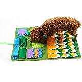 Alfombra para perros Snuffle para perro Snuffle alfombra Snuffle mate perro para Animal doméstico nosework Lent alimentación de entrenamiento de Play Puppy Cat Puzzle accesorios interactivos juguetes plegable protectora entraîn
