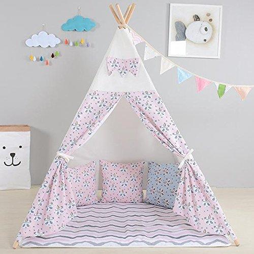 Erstklassiges Panda Indianerzelt Tipi für Kinder. Kinder Spielzelt / Spielhaus / Wigwam von (Integrity co) (pink)