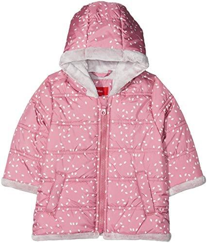 s.Oliver Baby-Mädchen 59.809.52.7020 Mantel, Dark Pink AOP 43a6, 92 - Baby Kapuzen Jacke Mädchen
