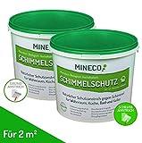 MINECO Anti Schimmel Farbe - natürliche, ökologische, chlorfreie, allergiker-geeignete Schimmelschutzfarbe/Schimmelschutz/ Langzeit-Schutz gegen Schimmel Flecken