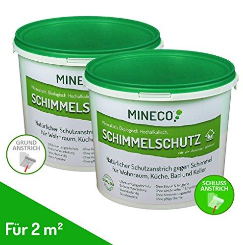MINECO Schimmelschutz - ökologische Anti-Schimmel-Farbe ohne giftige Inhaltsstoffe/Chlorfrei