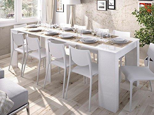 Wellindal tavolo da pranzo kiona estensibile 54-239 cm bianco