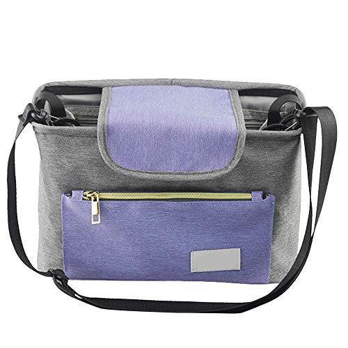 Organiseur de poussette, organiseur de landau, sac à langer universel réglable pour baby shower, cadeau pour les nouveaux parents