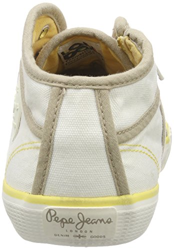 Pepe Jeans Industry Basic16, Baskets hautes femme Blanc - Weiß (803OFF WHITE)