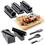 takestop Set 10pièces moules couper Noir créer Sushi roulés rouler différentes formes Maki pour roulés cuisine nigiri Couteau Party