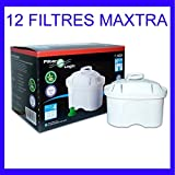 12 x FilterLogic FL402H - Cartouche filtrante compatible BRITA Maxtra pour fill & enjoy Elemaris / Marella / Navelia / Optimax et Bosch - Siemens Tassimo carafe filtrante