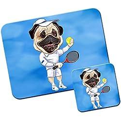 Alfombrillas de ratón y el juego de posavasos de tenis