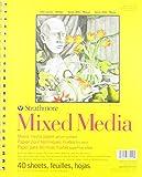 Strathmore 362-9 Mixed Media Serie 300 Velinpapier, 40 Blatt, 190g/m², 22.9 x 30.5cm