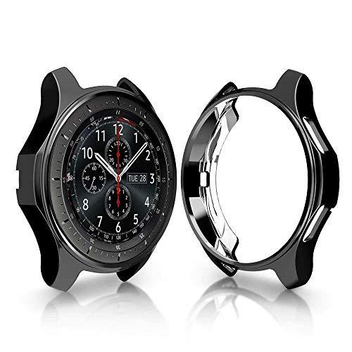 OUYAWEI Weiche TPU-Schutz Uhrengehäuse für Samsung Galaxy Watch 42mm 46mm schwarz 46mm (Uhrengehäuse Schwarz)