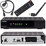 Anadol HD 202c Plus digitaler Full HD 1080p Kabel-Receiver [Umstieg Analog auf Digital] (HDTV, DVB-C / C2, HDMI, SCART, Coaxial, Mediaplayer, USB 2.0) - inkl. HDMI Kabel & WLAN USB Stick schwarz
