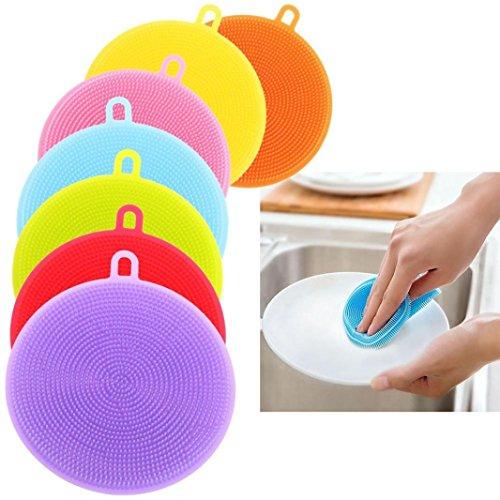 Traditionelle Ovale Teppich (Küche Reinigung Bürste,Jaminy 7st Silikon GeschirrspÜL Schwamm Wäscher KÜChe Reinigung Antibakterielle Werkzeug)