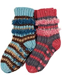 **Great Value**Ladies 2 pack Cosy Chenille Sock with non slip sole