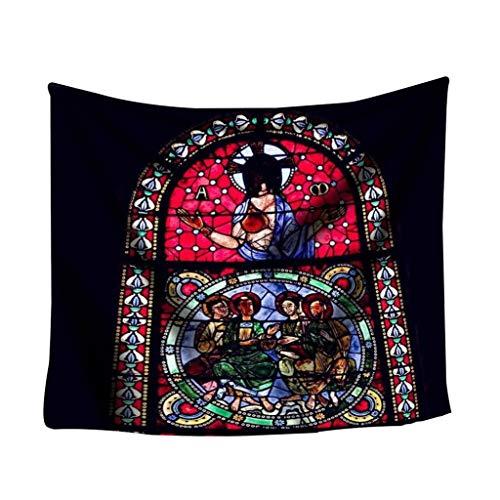 Notre Dame de Paris Landschaft Wandbehang Tapisserie Strandtücher Yogamatte Picknickdecke Vorleger Wandteppich Polyester Wanddeko Kunstteppich 5.91 * 5.11 inch (D)