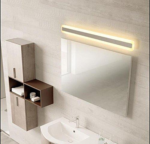 Moderne Einfache LED Waschtisch Spiegel Frontleuchte Wasserdicht Anti-Fog Bad Wandleuchte Dressing Licht 40 cm 52 cm 60 cm 80 cm 100 cm 120 cm (Farbe : Warm Light, Größe : 52cm-20w)