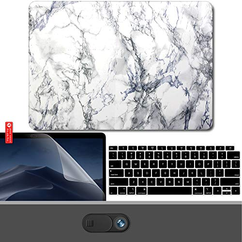 "Gmyle - Schutzhülle / Hardcase für MacBook Air 13 Zoll, Kunststoff, transparent weiß White Marble MacBook Air 13"" Touch ID (A1932)"
