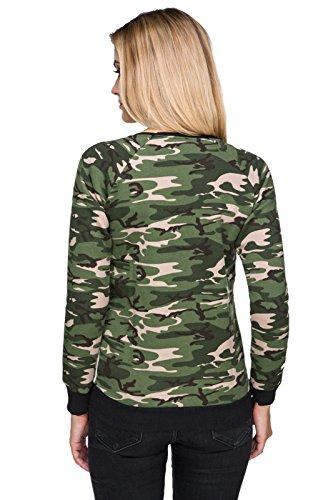 FUTURO FASHION - Sweat-shirt - Blouson - À logo - Col Chemise Classique - Femme noir noir Noir