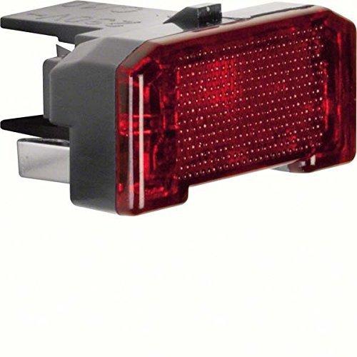 Hager LED-Lampe 230 V 0,4 mA schwarz (2 Stück LED-Aggregat 168601 schwarz) -