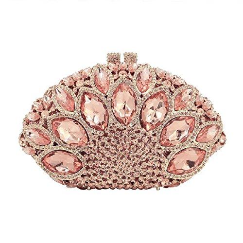 Frauen Kristall Abendtasche Diamant-Hochzeit Braut-Handtasche B