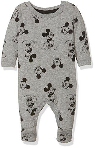 NAME IT Baby-Jungen Strampler Nitmickey Mou LS Bodysuit Mznb Wdi, Mehrfarbig (Grey Melange), 56