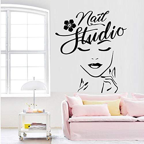 zqyjhkou Beauty Salon Decor Vinyl Aufkleber Für Verglasung Platte Glaswandbild Wallstickers Mädchen Schlafzimmer Dekoration Tapete L 43 cm X 49 cm
