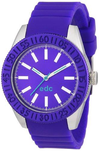 edc by Esprit vanity wheel A.EE101042003 - Reloj analógico de cuarzo para mujer, correa de plástico color morado