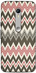 Snoogg Grey Pink Waves 2499 Designer Protective Back Case Cover For Motorola Moto X Style