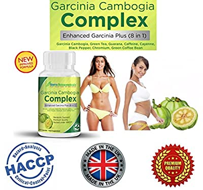 Premium Garcinia Cambogia COMPLEX for Weight Loss? Enhanced Garcinia Plus (8 in 1) EXTRA Premium HIGH STRENGTH Weight Loss Pills in the Market ? PLUS Added Green Tea Extract, Cayenne, Yerba and Guarana Extract ? One Month Supply ?60 Veggie Capsules ? Prou