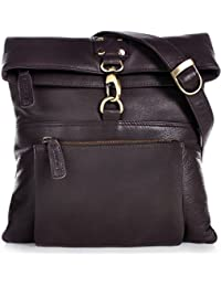 PHIL+SOPHIE, Cntmp, Damen Handtaschen, Umhängetaschen, Crossover-Bags, Crossbags, Schultertaschen, Leder, 26x27x2cm (B x H x T)