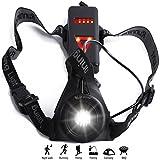 Wiederaufladbare USB Running Light, LED Aufladbare Brust Laufen Light Taschenlampe mit zum Joggen Rücklicht Night Hund Walking Camping Angeln, Sichere Für die Winterzeit dunkle Jahreszeit