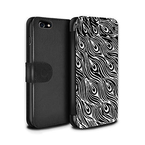 STUFF4 PU-Leder Hülle/Case/Tasche/Cover für Apple iPhone 8 / Tierdruck Muster / Modern Lebendig (Tierdruck Taschen)