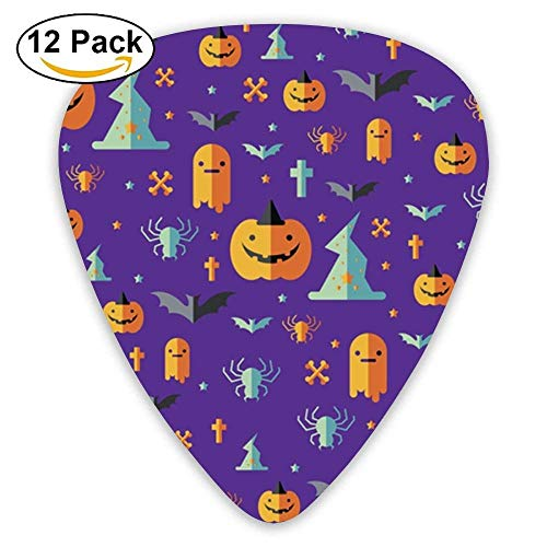 Wrapper Design For Halloween Day Guitar Picks For Electric Guitar 12 Pack