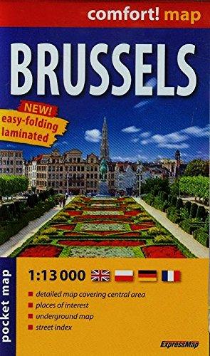 Bruselas 1:13.000 plano de bolsillo plastificado. ExpressMap. (Comfort ! Map) por VV.AA.