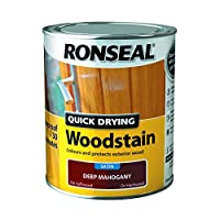 Ronseal Quick Drying Woodstain Deep Mahogany Satin 750ml