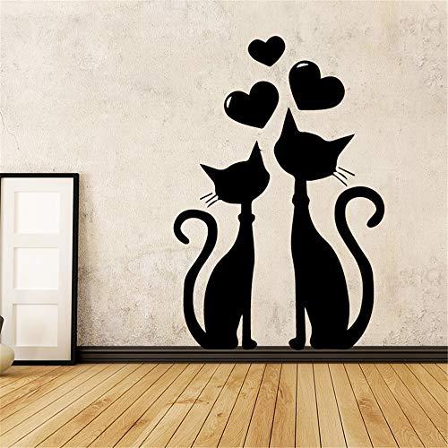 wlwhaoo Merican-Stil Mädchen Cartoon Wandtattoos PVC Wandbild Kunst DIY Poster für Schlafzimmer Dekoration Aufkleber Wohnkultur Weiß XL 58 cm x 81 cm (Wandtattoo Namen Monkey)