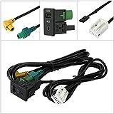 KKmoon USB Cable de Audio AUX Enchufe Interruptor
