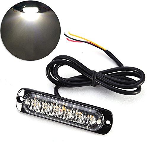LED Voitures Feux Latéral de Position Etanche 18W 6 Lampes 12V / 24V Remorque Camion Voiture Auto(Blanc)